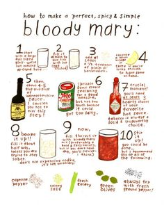 Constructing the Perfect Bloody Mary... minus the olives