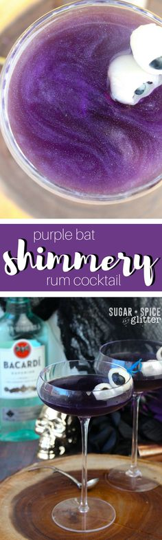 Shimmery Purple Bat