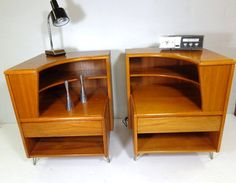 2 Rare Denmark Teakwood Nightstands, FREE Shipping Up To 200.00 on Etsy, $1,099.00