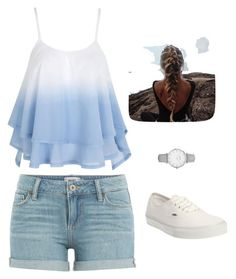 """""""Ombré"""" by meganjuliana on Polyvore featuring Paige Denim, Vans and Topshop"""