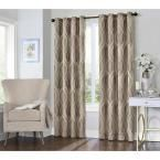 Eclipse Caprese 95 in. L Taupe (Brown) Grommet Curtain, (1-Pack)