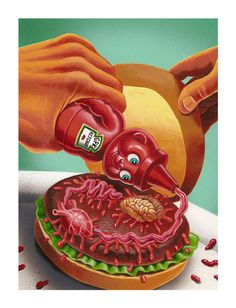 Garbage Pail kids and Wacky Packages on Character Design Served