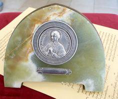 Antique French Saint Bernadette Medallion With by LaCassoulere, €40.00