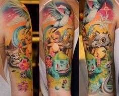This has got to be the best Pokemon tattoo I've ever seen.