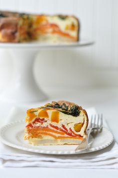 Roast Vegetable Ricotta Cake - Easy To Make, Travels Well And Tastes Great At Room Temperature!