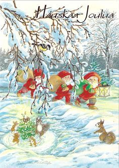 Christmas Fairy, Christmas Cards, Christmas Decorations, Christmas Ideas, Old Postcards, Gnomes, Elves, Troll, Illustrators