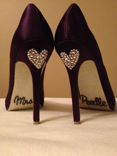 Personalized Wedding shoes with last name by Allfortheglam on Etsy, $100.00