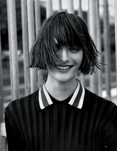 Bob.     Sam Rollinson by Alasdair McLellan for Vogue UK March 2014 with hair by Anthony Turner