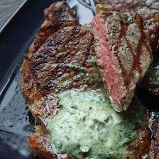 Grilled Ribeye Steak with Gorgonzola Butter Recipe