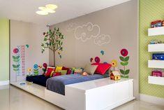Adesivo de parede é boa opção para decorar o quarto das crianças sem gastar muito - Casa - GNT