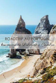 Un itinéraire de roadtrip testé et approuvé pour une semaine au Portugal à la découverte de la région de Sintra, des hauts-lieux du surf au nord de Lisbonne et de la ville de Coimbra. #voyage #roadtrip #portugal