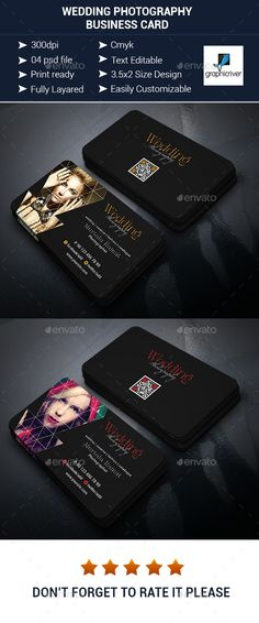 Wedding Photography Business Card  - Corporate Business Cards
