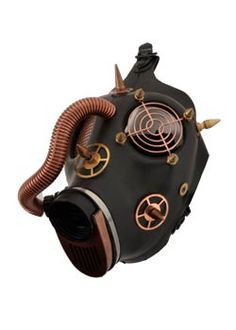Steampunk Gas Mask - gothic cyber goggles, respirators and gas masks.