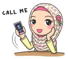 Bunga is back! the edition of Flower Hijab is ready to enliven your chat room with her calm and cute expressions. Muslim Pictures, Islamic Pictures, Emoji People, Cute Drawings Of Love, Hijab Drawing, Islamic Cartoon, Anime Muslim, Hijab Cartoon, Islamic Girl