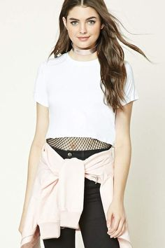 Forever 21 Raw Cut Crop Top