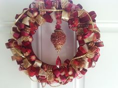 Classic Burgundy and Gold Ribbon Christmas by ThePrincessLoft