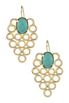 Turquoise Circle Earrings on @HauteLook