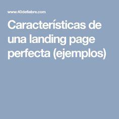 Características de una landing page perfecta (ejemplos) Personality Disorder, Narcissist, Landing, Best Practice