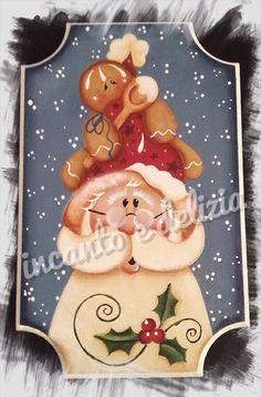 Quadretto decorativo natalizio, su disegno di Renee' Mullins