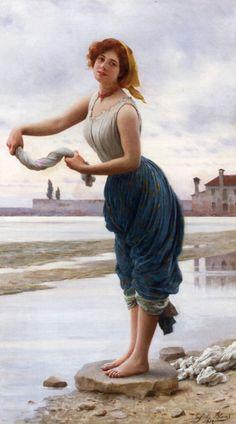 Eugene de Blaas - The Lavender 1912