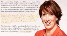 """""""I look in the mirror and simply give thanks for all I've opted out of"""" #mirandahart"""