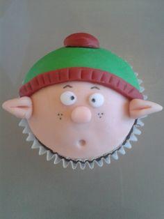 Christmas cupcake elf