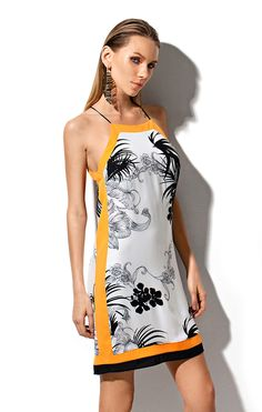 VESTIDO FLOWER LENCO - ESTAMPADO OFF WHITE-PRETO / P