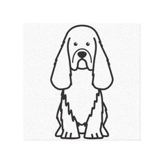 Sussex Spaniel Dog Cartoon Gallery Wrapped Canvas