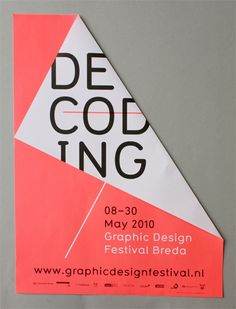 Graphic Design Festival Breda 2010 Decoding Exhibition event poster You are in the right place about Graphic Design brochure Here we offer you the most beautiful pictures about the japanese Graphic De Poster Layout, Diy Poster, Graphic Design Posters, Graphic Design Typography, Branding Design, Bank Branding, Event Poster Design, Brochure Design, Layout Design