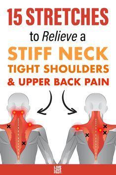 Neck And Shoulder Exercises, Neck And Shoulder Pain, Shoulder Workout, Stiff Shoulder, Shoulder Tension, Posture Exercises, Hip Flexor Exercises, Sciatica Stretches, Workout Exercises