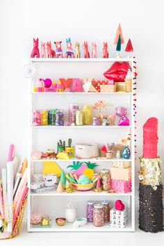 & in other shelving news: Colorful Prop Shelves
