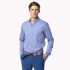 Tommy Hilfiger Fine Slim Fit Hemd - dazzling blue-pt (Blau) - Tommy Hilfiger Casual Hemden - Hauptbild