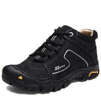 2b01a84c8e 2017 New Authentic Men s Big Size Hiking Shoes Plus Fur Mountain Outdoor Shoes  High-top