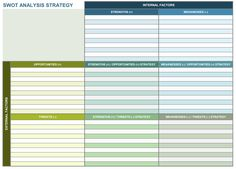 NonProfit Strategic Plan Excel Template  Bit Of This  That