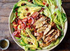 Bacon Avocado, Avocado Chicken Salad, Avocado Recipes, Potato Salad, Grilled Chicken, Pasta Salad, Food Processor Recipes, Mustard, Food And Drink