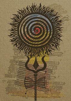 Shiva Art, Krishna Art, Hindu Art, Lord Ganesha Paintings, Lord Shiva Painting, Trishul Tattoo Designs, Om Art, Mystic Symbols, Rudra Shiva