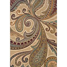 @Overstock - A bold abstract design on this area rug features a fashion-forward palette of ivory, gold, grey, blue, green, purple and orange. Featuring a durable yet soft nylon construction this beautiful rug will make a wonderful addition to any room.http://www.overstock.com/Home-Garden/Messina-Ivory-Gold-Contemporary-Area-Rug-53-x-76/6209753/product.html?CID=214117 $285.99