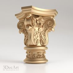 3D model of decorative capitals for production on CNC and visualization of interiors and exteriors.