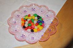 Jelly bean egg tray fine motor fun!