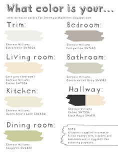 Love these paint colors... especially the gray!