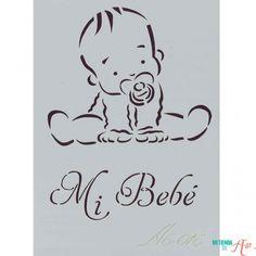 Plantilla de Stencil Mi Bebé (15x10,5cm) A6-016
