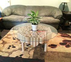 Recycled Cardboard-Tube Table by Sean Olsen, via Behance