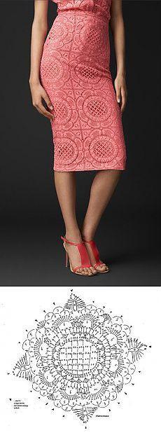How to Make This Beautiful Crochet Dress with Pattern Diagram ___________________________ Кружевная юбка вязаная крючком схема. Юбка вязаная крючком из мотивов | Все о рукоделии: схемы, мастер классы, идеи на сайте labhousehold.com: