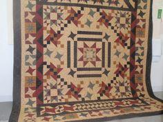 Beautiful quilt-love the Civil War colors