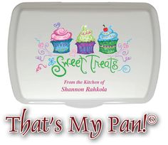 Sweet Treats Personalized Artist Series Cake Pan & Lid - one of the most popular custom artwork in the Artist Series Collection. Check out endless designs, colors, and personalization options with That's My Pan!®'s personalized gifts!
