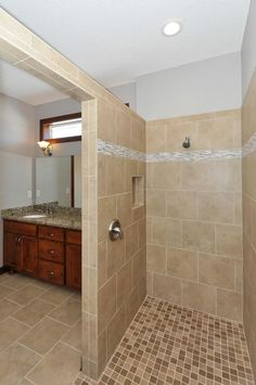 Master Bathroom Walk-in Shower- Custom Rambler in Rogers, MN by JPC Custom Homes, Inc