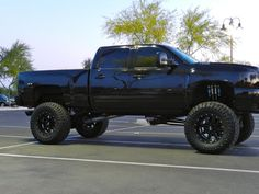 Lifted Chevy Silverado truck