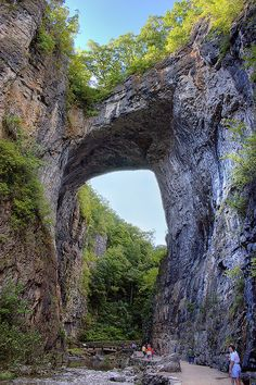 Natural Bridge, Near Lexington Virginia. HDR from one raw image.