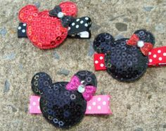 Minnie Mouse Hair Clip Mickey Mouse Hair Clip Collection Set