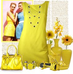 """""""the yellow destination"""" by bodangela ❤ liked on Polyvore"""